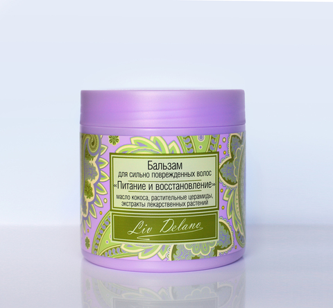 Liv delano Oriental touch Бальзам для сильно повреждённых волос Питание и восстановление 350г