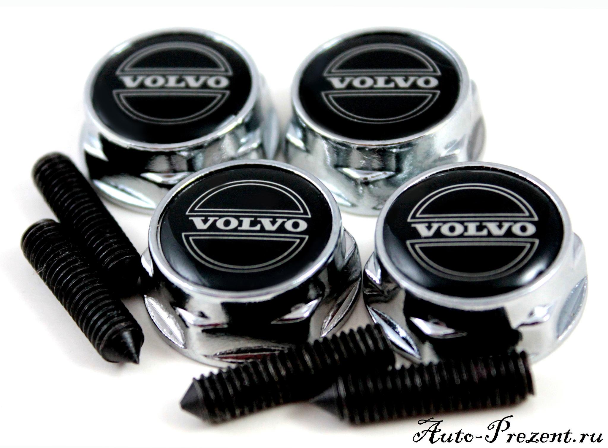 Болты для крепления госномера с логотипом VOLVO