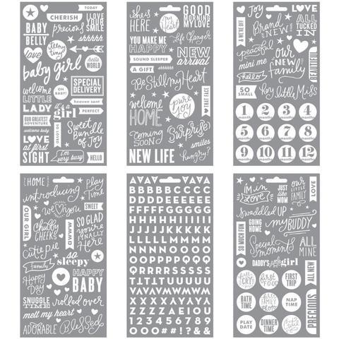 Стикеры на прозрачном пластике Me & My Big Ideas Pocket Pages Clear Stickers - Baby Girl