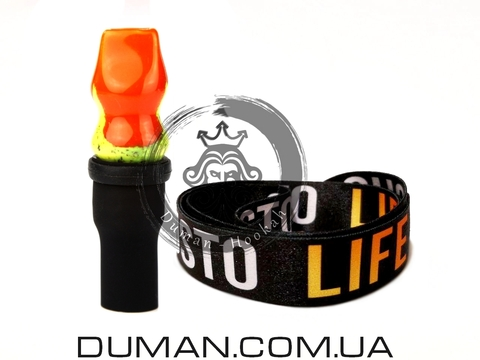 Персональный мундштук Gusto Bowls (Густо Болс)  Orange-Yellow Gusto Life