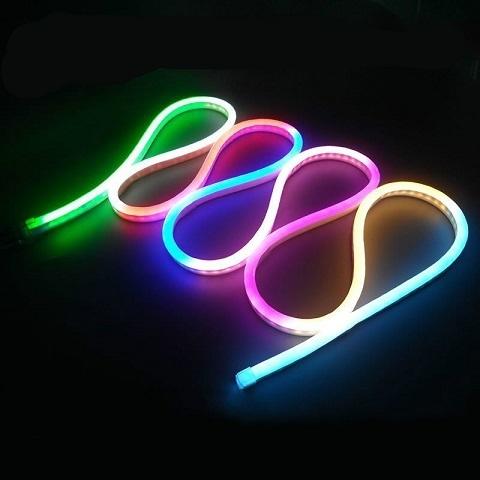 Гибкий неон Мини RGB, SMD2835, 8х16 мм, 220В