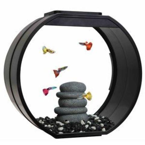 Аквариум Черный для рыб DECO O 20л,39,5*18,7*37,5 см