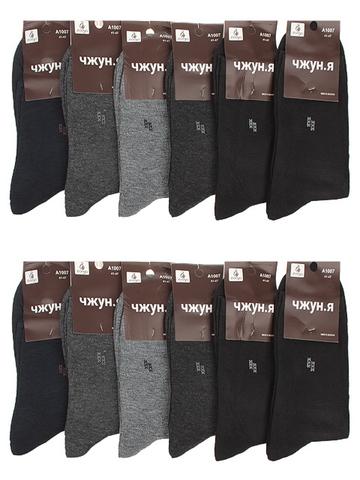 A1007 носки мужские 41-47 (12 шт.) цветные