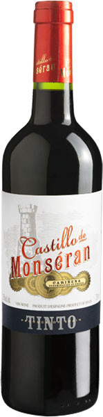 Вино Кастильо де Монсеран защ. геог. указ. бел.сух. 0,75л 12,5%