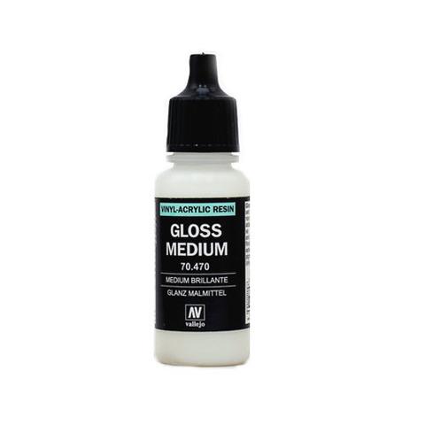 70470 Gloss Medium Глянцевое Связующее, 17 мл Acrylicos Vallejo