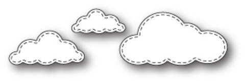 Ножи для вырубки Stitched Cloud Trio craft die