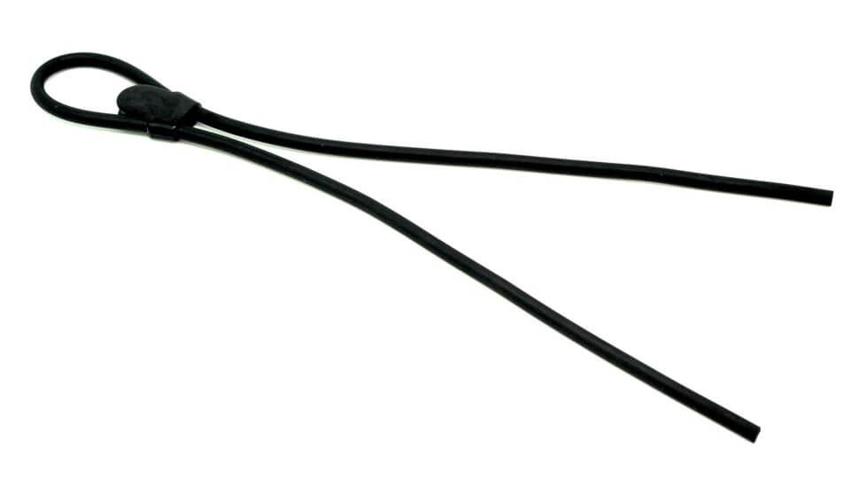 Шнурок для стрелковых очков из силикона премиум-класса 56 см черный