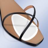 Прозрачные ультратонкие гелевые подушечки для передней части стопы арт PS-19