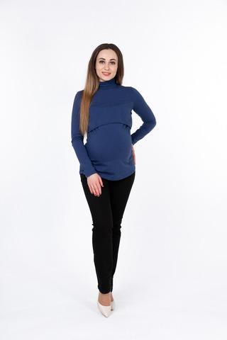 Водолазка для беременных и кормящих 10047 синий