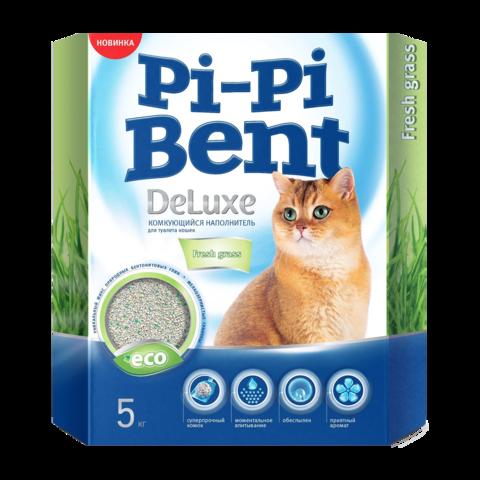 Pi-Pi-Bent DeLuxe Fresh grass Наполнитель для туалета кошек комкующийся