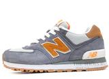 Кроссовки Женские New Balance 574 Premium Grey Orange