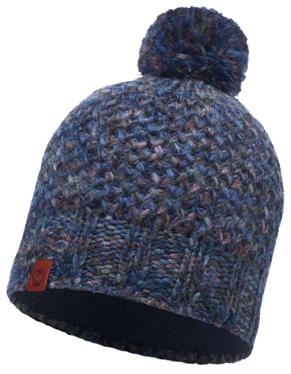 Шапки крупной вязки Вязаная шапка с флисовой подкладкой Buff Margo Blue 113513.707.10.00.jpg