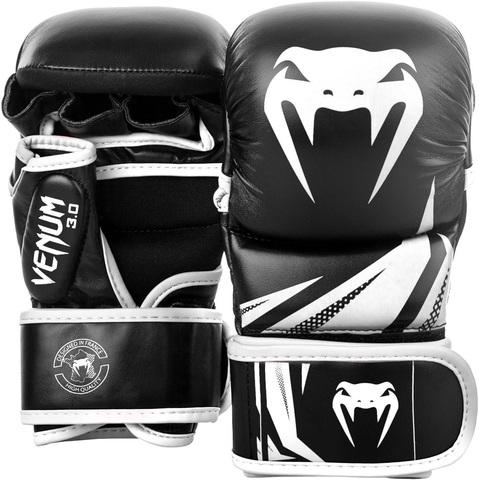 Перчатки для ММА Venum Challenger 3.0 Sparring Gloves Black/White