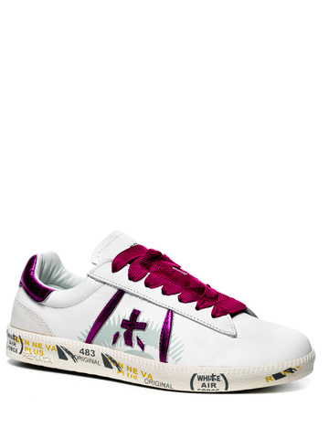 Кожаные кеды Premiata Andy-D 4679 на шнуровке