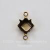Сеттинг - основа - коннектор (1-1) для страза 6х6 мм (оксид латуни)