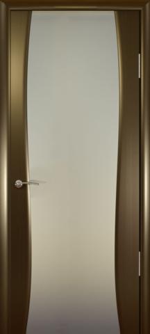 Дверь Океан Буревестник-2, стекло белое, цвет венге, остекленная