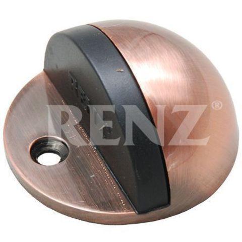 Фурнитура - Ограничитель Дверной настенный Renz DS 77, цвет латунь матовая
