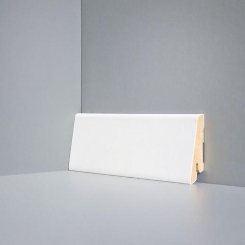 Белый ламинированный плинтус DEARTIO U101-60