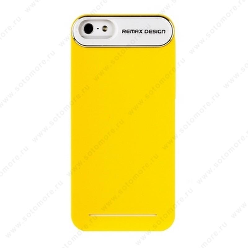 Накладка REMAX для iPhone SE/ 5s/ 5C/ 5 с силиконовой наклейкой желтая