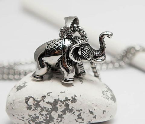 Подвеска из стали в виде индийского слона