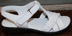 Сандали женские кожаные Evromoda 15 White.