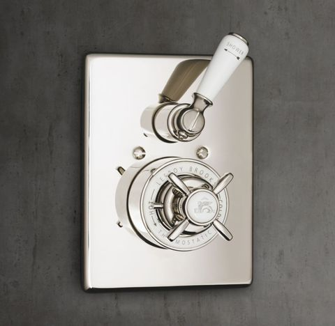 1900 Classic Thermostatic Shower Valve & Trim Set with Flow Control - White