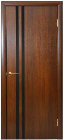 Дверь Агата (каштан, глухая ПВХ), фабрика Новый Стиль