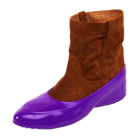 Галоши для обуви без каблука фиалка