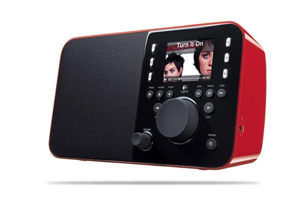 LOGITECH Squeezebox Radio Red
