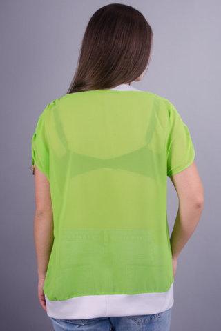 Деніз. Яскрава повсякденна блуза великих розмірів. Салат.
