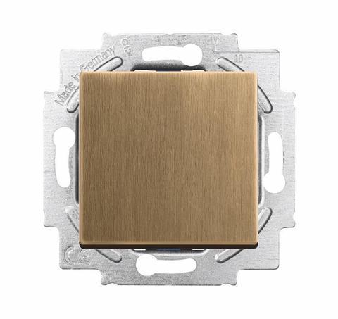 Выключатель/переключатель одноклавишный, промежуточный(перекрёстный). Цвет Латунь античная. ABB (АББ). Dynasty/Solo/Future/Axcen/Carat/Pure. 1012-0-2130+1751-0-3116