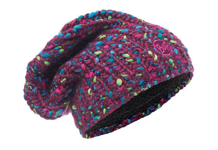 Вязаная шапка с флисовой подкладкой Buff Yssik Amaranth Purple