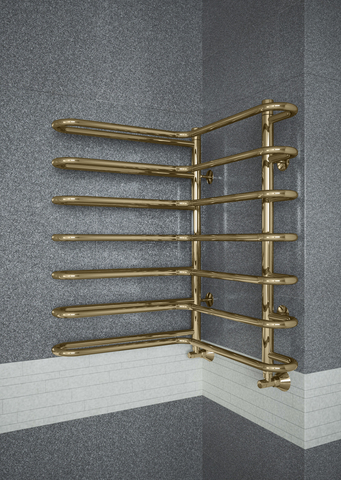 Nika Bronze - угловой полотенцесушитель цвета бронза.