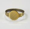Основа для кольца с круглой площадкой 10 мм (цвет - античная бронза)