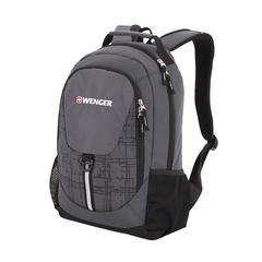 Рюкзак WENGER, серый/чёрный, полиэстер 600D, со светоотражающими элементами, 32х14х45 см, 20 л.