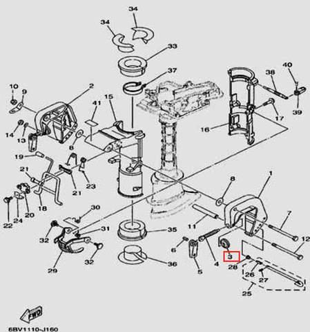 Шайба прижимная для лодочного мотора F5 Sea-PRO(16-3)
