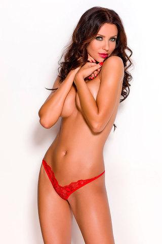 Трусики-стринги эротические красные