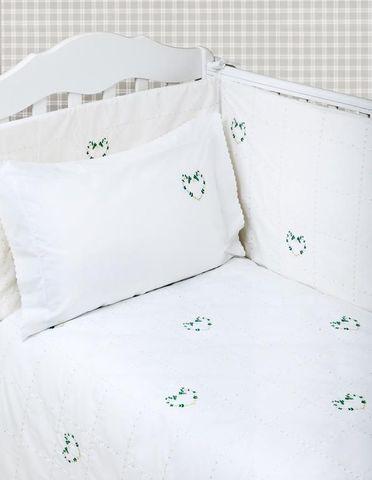 Бампер для детской кроватки 195х45 Bovi Сердечки