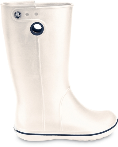 Купить резиновые сапоги женские (белые) Крокбэнд Джаунт Ойстер Crocs