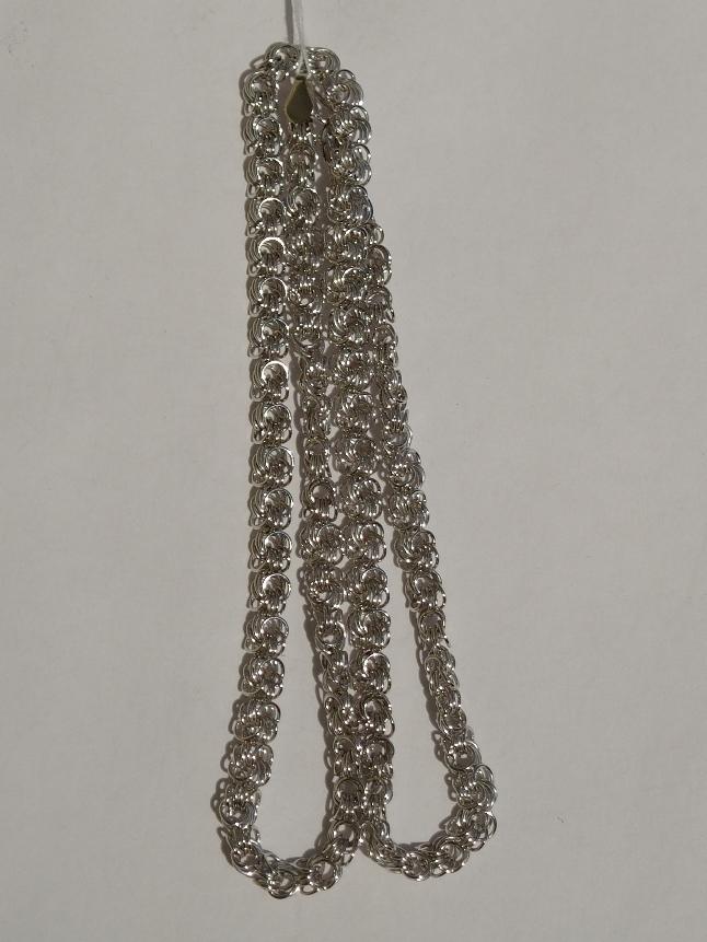 Розочка пустотелая 0,5   (серебряная цепочка)