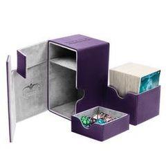 Ultimate Guard - Кожаная фиолетовая коробочка с отделением для кубиков