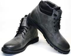 Зимние ботинки мужские кожаные с мехом Ikoc 3620-3 S