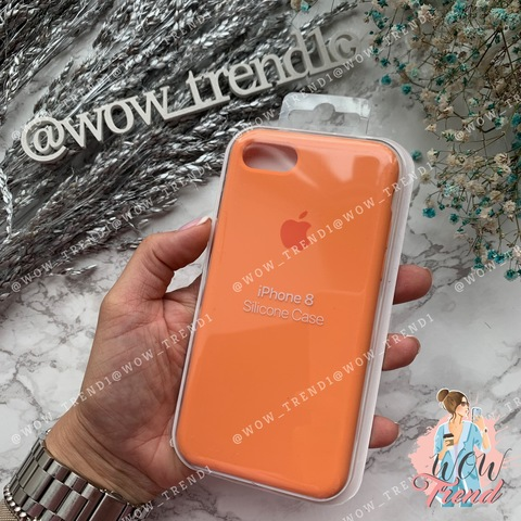 Чехол iPhone 7/8 Silicone Case /papaya/ папая 1:1