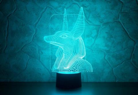 3D светильник Анубис