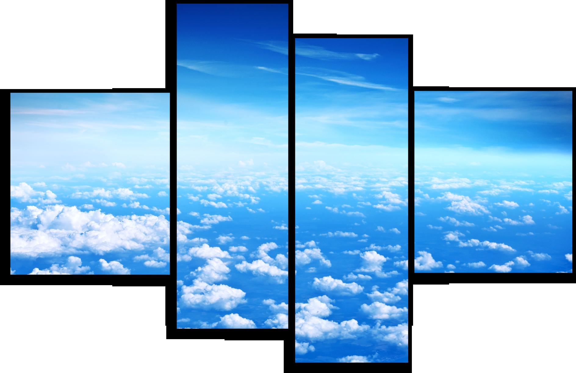 """Природа Модульная картина """"Спокойный полёт"""" М474.png"""