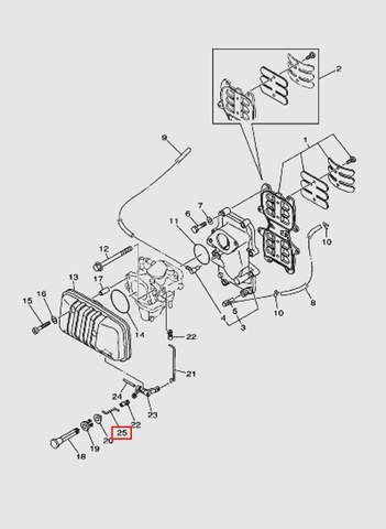 Тяга газа для лодочного мотора T40 Sea-PRO (4-25)