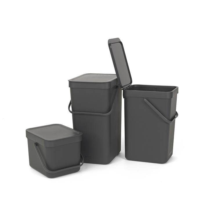 Встраиваемое мусорное ведро Sort & Go (6 л), Серый, арт. 109720 - фото 1