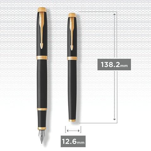 Перьевая ручка Parker IM Metal Black GT123