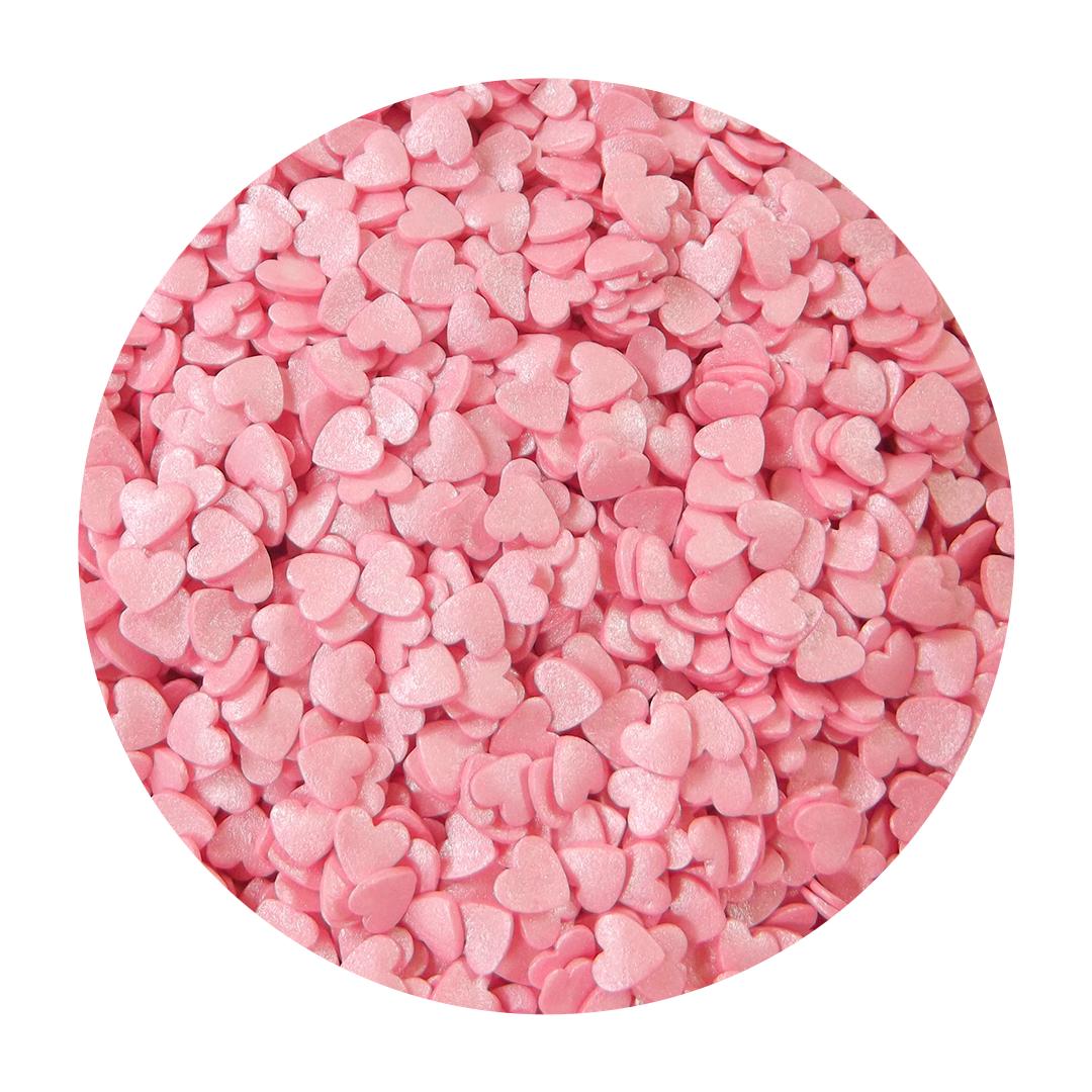 Посыпка кондитерская  «Сердца розовые перламутровые», 40г