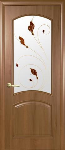 Дверь Аве ДО (золотая ольха, остекленная ПВХ), фабрика Новый Стиль